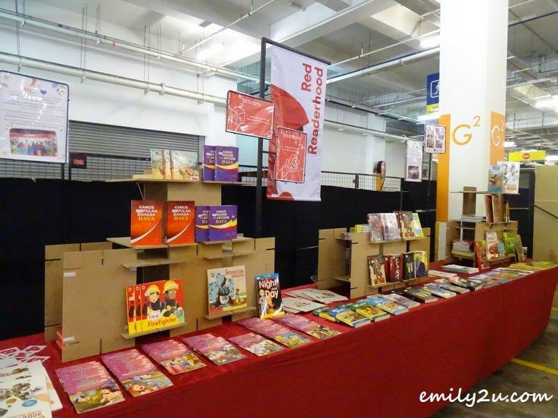 Red Readerhood book donation corner