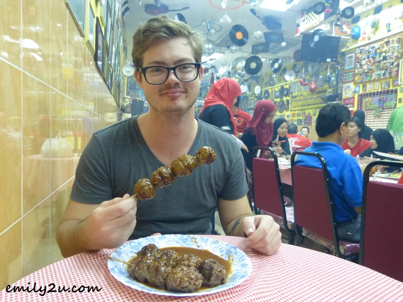 grilled mutton balls at California Steakhouse & Steamboat, Tanjung Malim, Perak