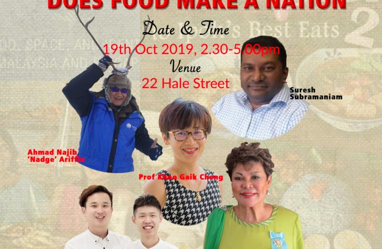 Announcement: Sharpened Word Oct 2019: Does Food Make A Nation?