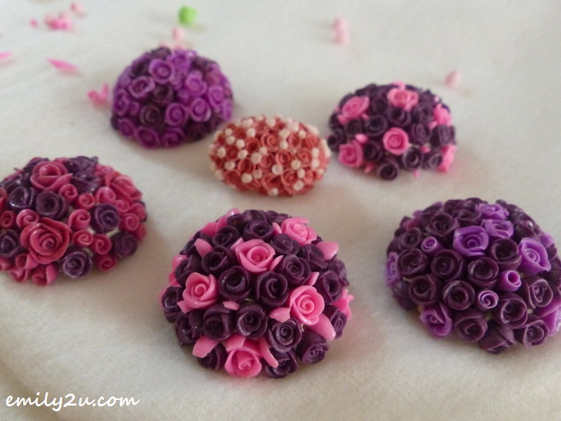 brooches from baby roses
