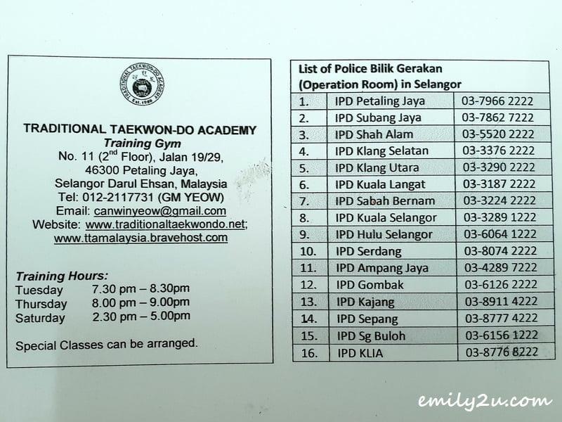 list of Selangor IPD phone numbers