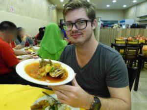 sizzling fish Thai-style at Restoran Village Tomyam Seafood, Tanjung Malim