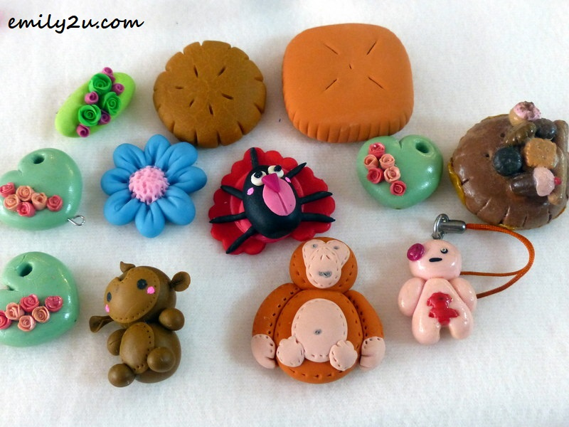 some small items Katt made from polymer clay