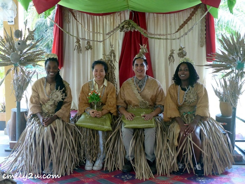 wedding ritual - writer is second from left - with 'groom' Edgar from the Philippines and bridesmaids from France