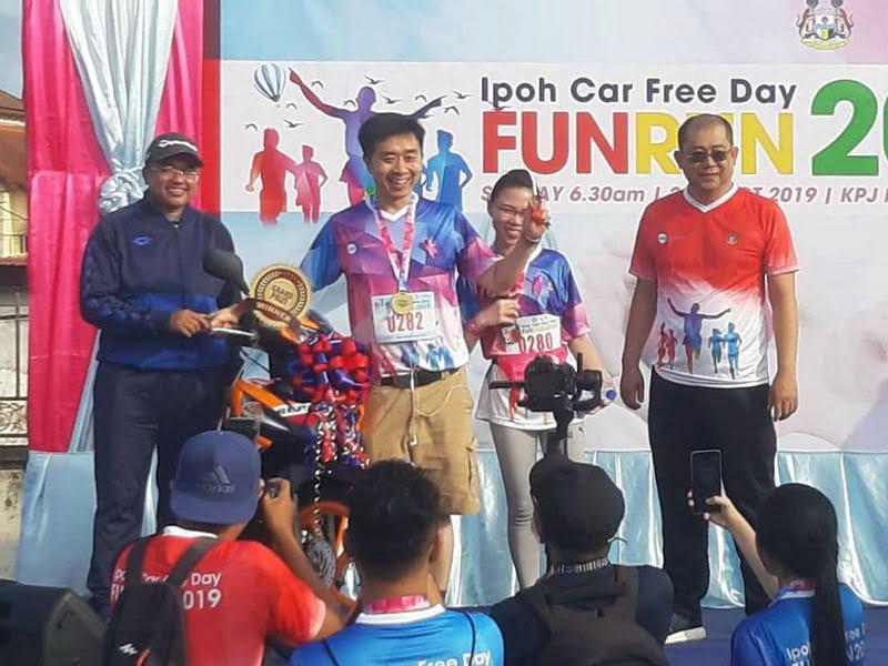Ipoh Fun Run @ Ipoh Car Free Day lucky draw grand prize winner