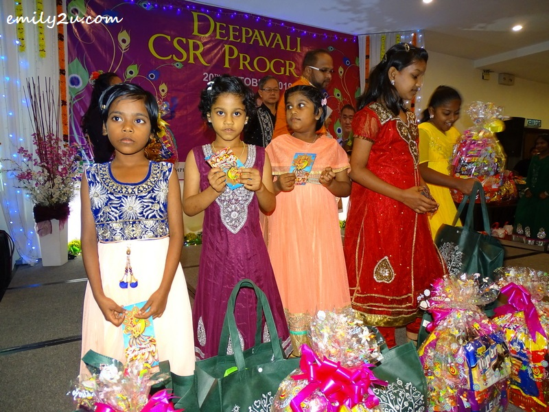 some of the children with their gifts