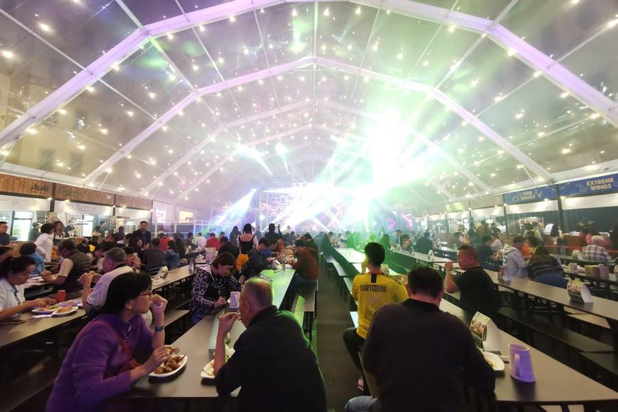 inside Oktoberfest Hall