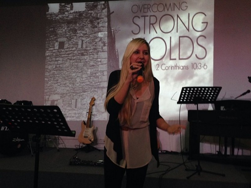 singing at River City Church
