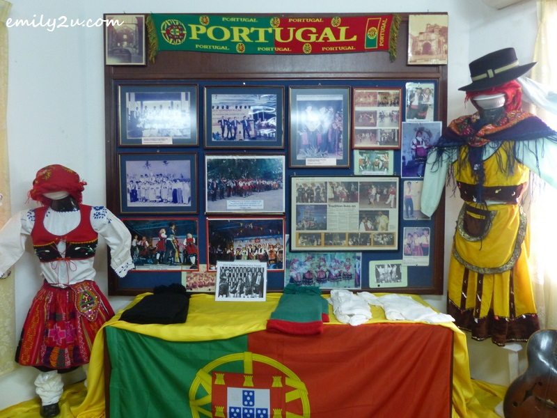 exhibits in the Portuguese Settlement Heritage Museum