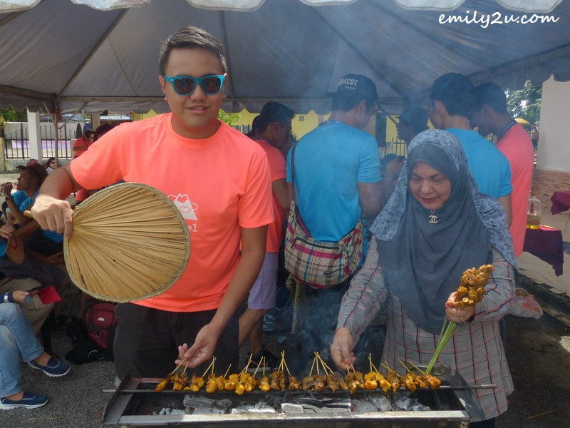 learning to grill satay