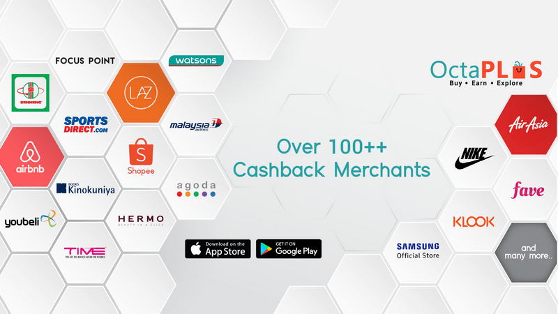 over 100 merchants to shop with