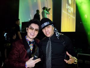 with Taboo of Black Eyed Peas, one of the interviewees in Frank 2 Frank