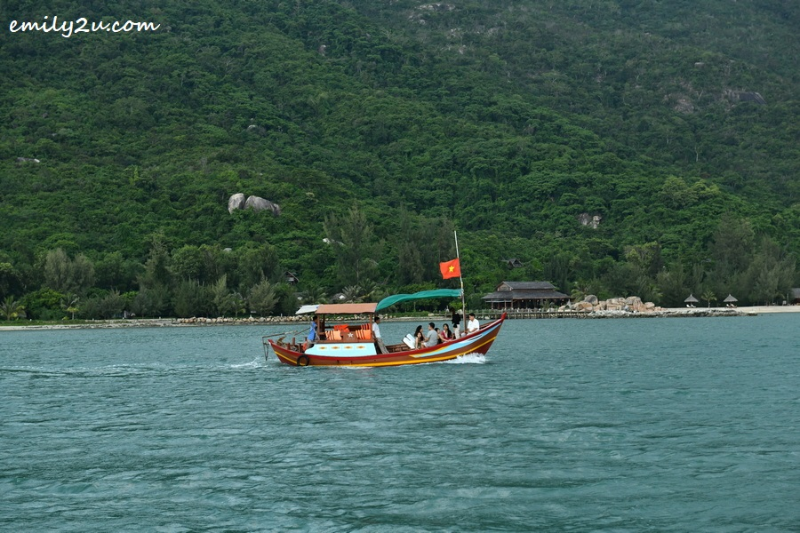 sailing on the traditional Vietnamese boat