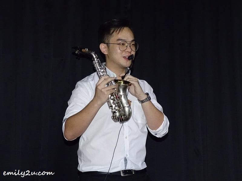 saxophonist Kent Leong