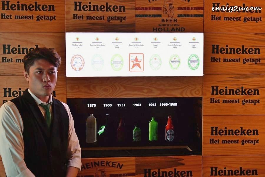Heineken labels, through the years