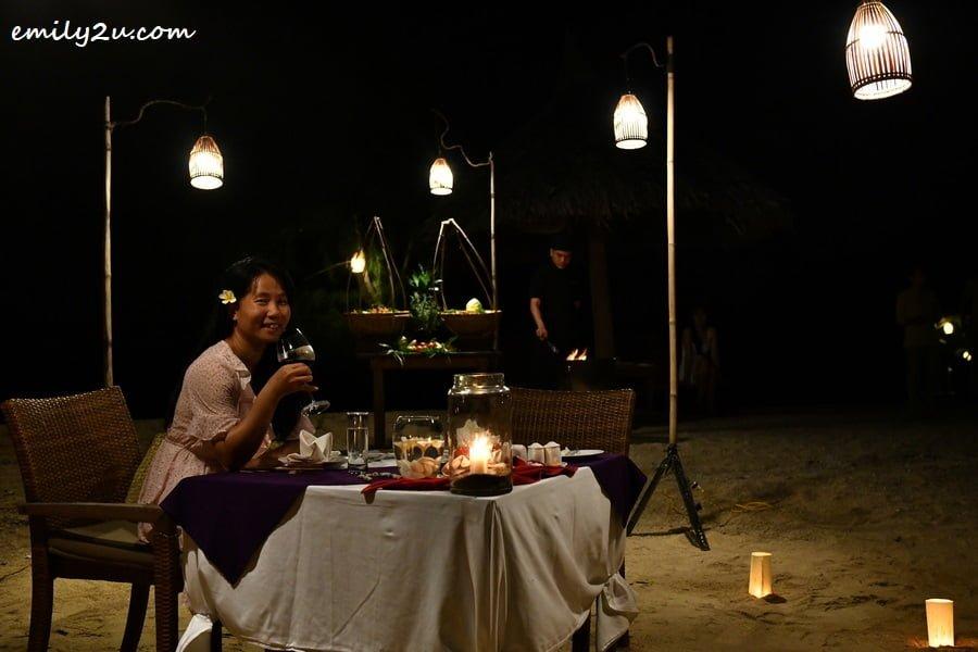 BBQ beach dinner