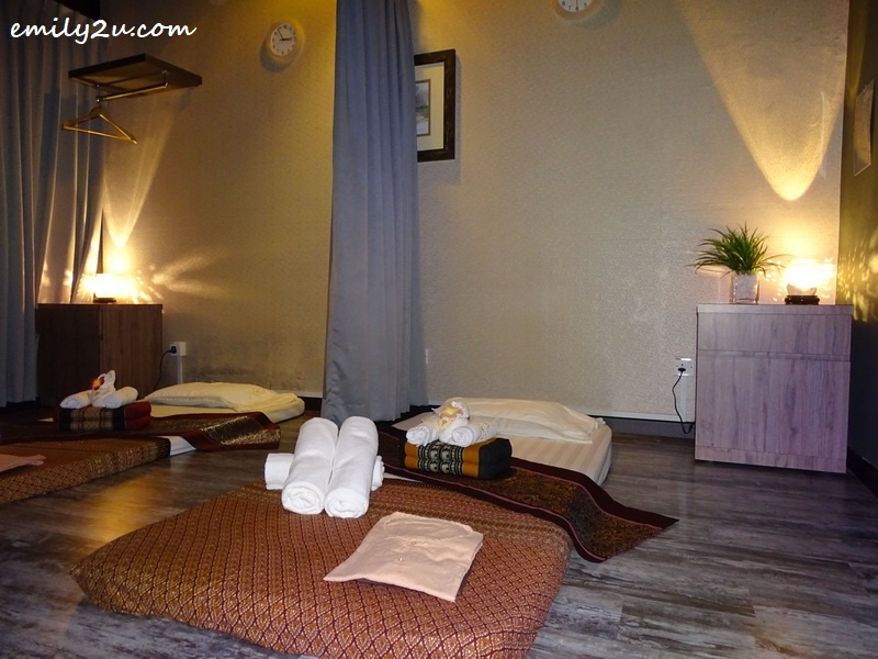 room with Japanese futon for traditional Thai massage