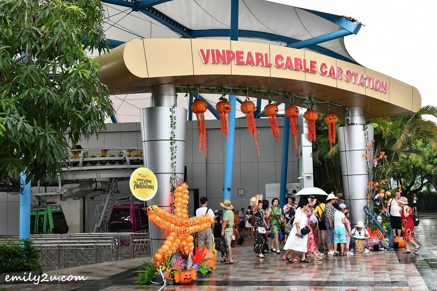 Vinpearl Land Cable Car Station on Hon Tre Island