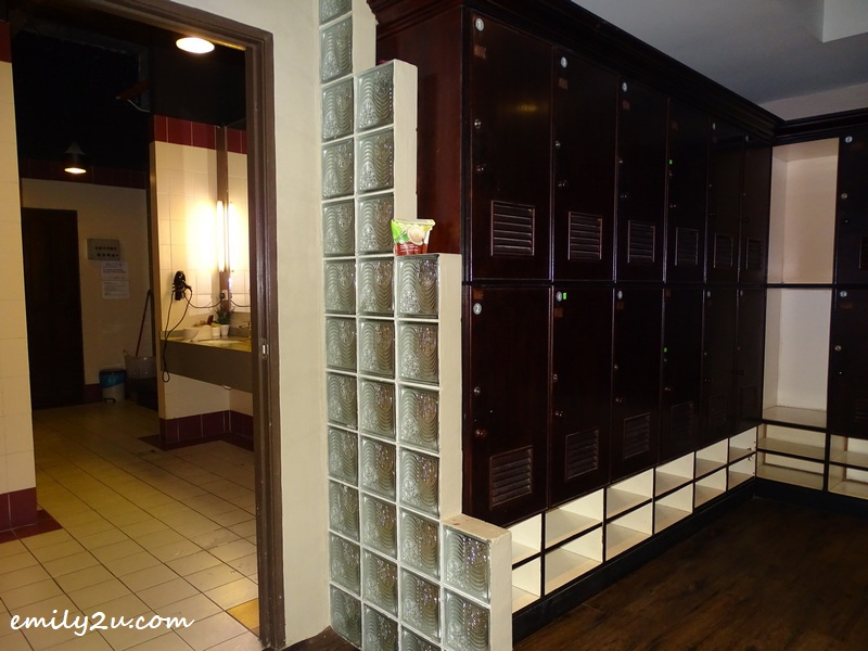 lockers and shower stalls