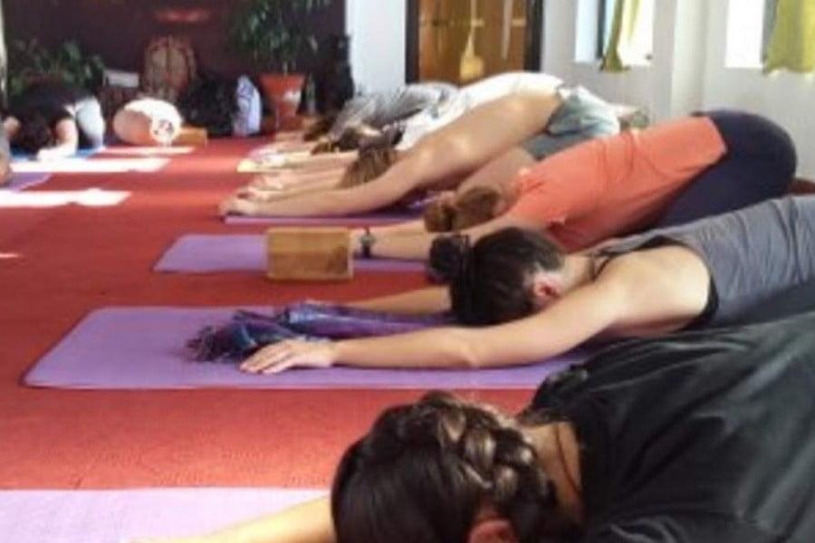 Mandala Studio Yoga Session, Kathmandu, Nepal