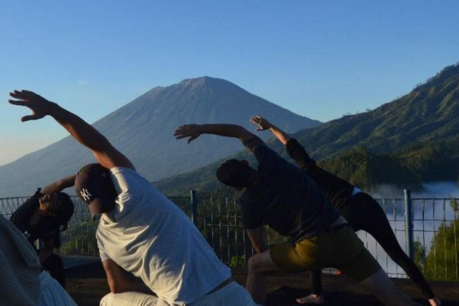 Mount Abang Jungle Trekking and Kintamani Sunrise Yoga, Bali, Indonesia