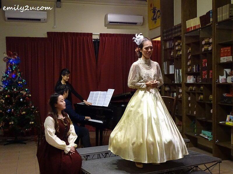 mezzo-soprano Marianne Poh on stage