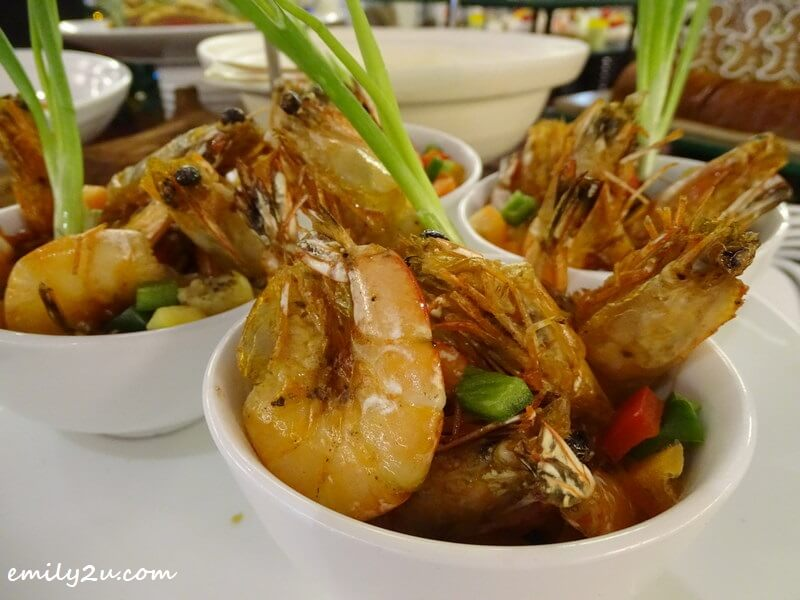 Pan-grilled Marinated Prawns