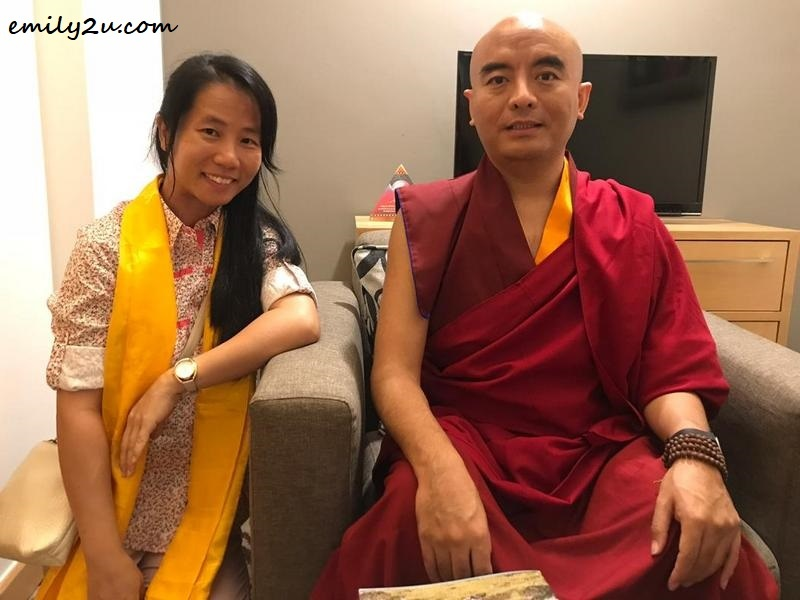 private audience with the Venerable Yongey Mingyur Rinpoche