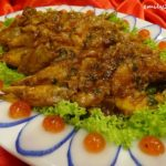 5 Menu B Pan-fried Big Ming Prawns with Western Sauce