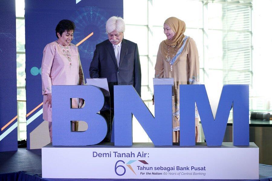 'For the Nation: 60 Years of Central Banking' exhibition was launched by Duli Yang Maha Mulia Yang di-Pertuan Besar Negeri Sembilan Darul Khusus, Tuanku Muhriz ibni Almarhum Tuanku Munawir.