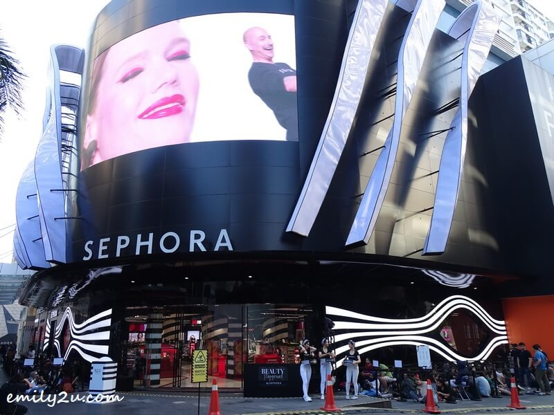 the new Sephora beauty flagship store at Fahrenheit88, Bukit Bintang