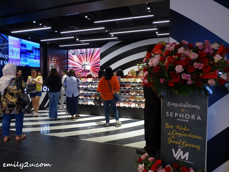 Sephora on grand opening day