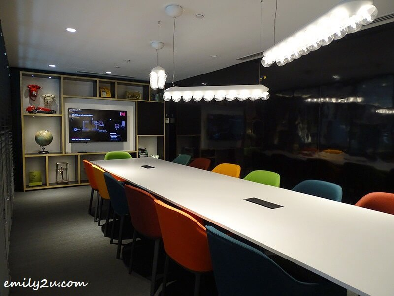 function room with funky theme
