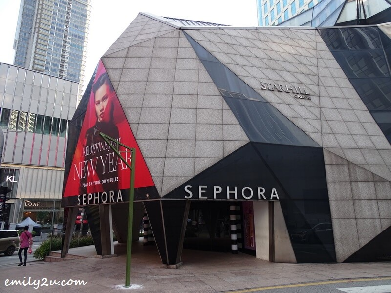 the original Sephora store steps away, at Starhill Gallery since 2011