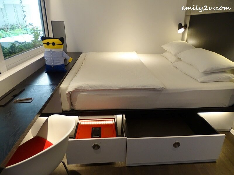 safety box and storage area under the bed