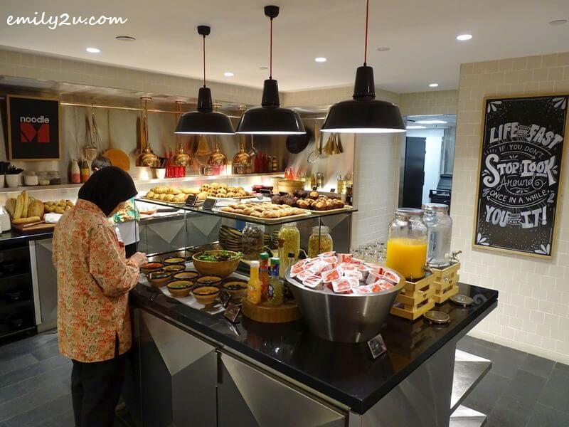 breakfast counter serving a homey menu