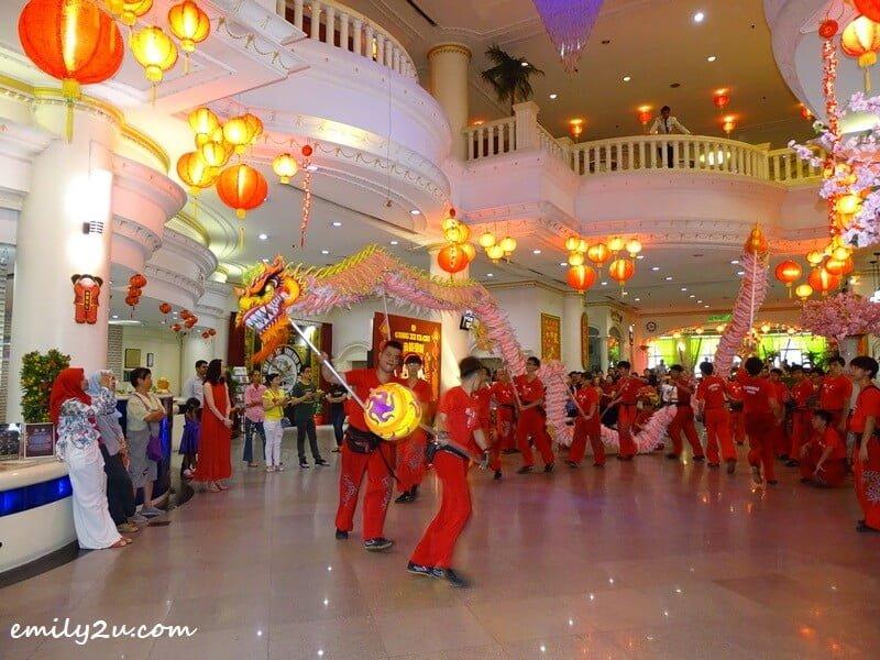 dragon dance performance begins