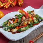 CNY2020_Chinese Yam, Brinjal _ Organic Lady Fingers with _San Bei_ Sauce