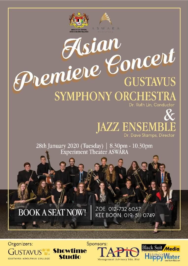 Announcement Asian Premiere Concert Gustavus Symphony Orchestra