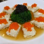Imperial Rama-Fish maw stuffed with seafood paste in brown sauce