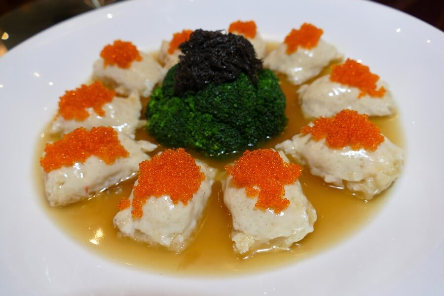 Imperial Rama - Fish maw stuffed with seafood paste in brown sauce