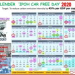 2020 Ipoh Car-Free Day Calendar