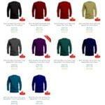 microfibre long sleeve shirt colours
