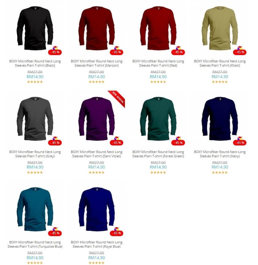 ten microfibre long sleeve shirt colours