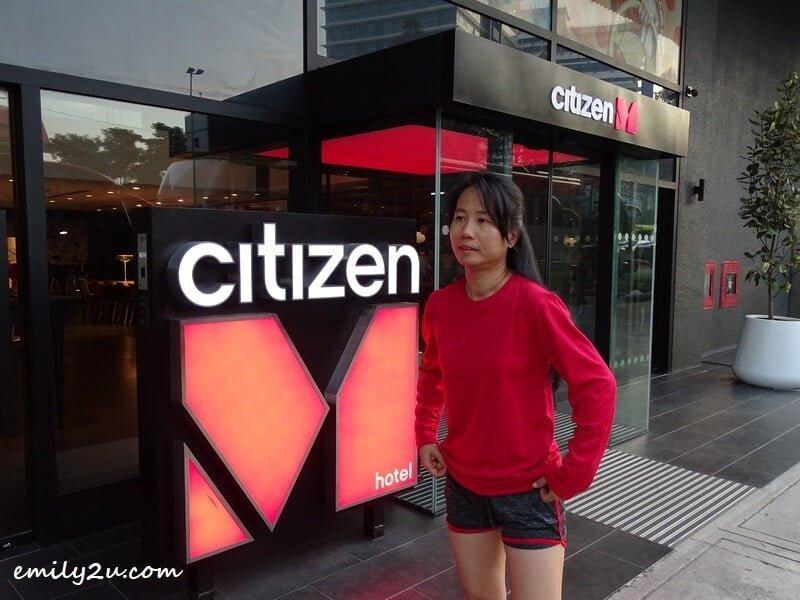 starting my walk when travelling in Kuala Lumpur