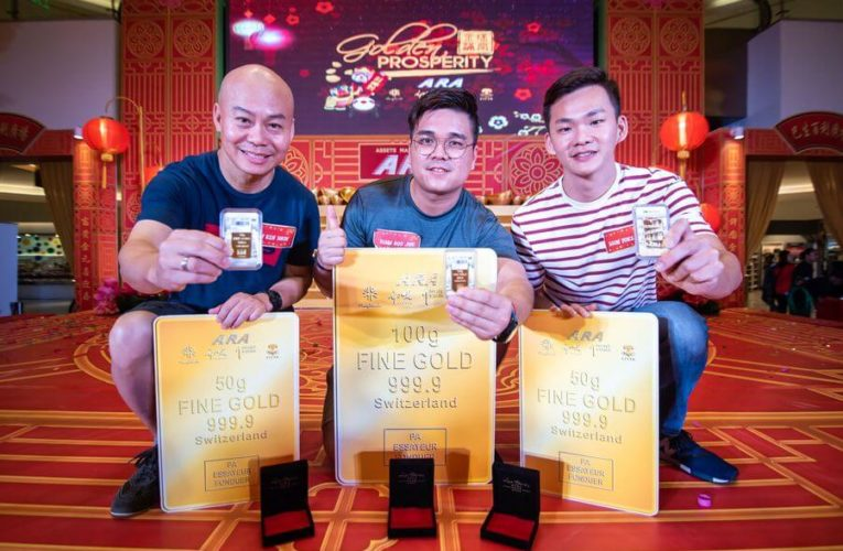 "Gold Bar Winner Lives Up to Dad's Last Wish at the Grand Finals of ARA's ""Golden Prosperity"" CNY Campaign"