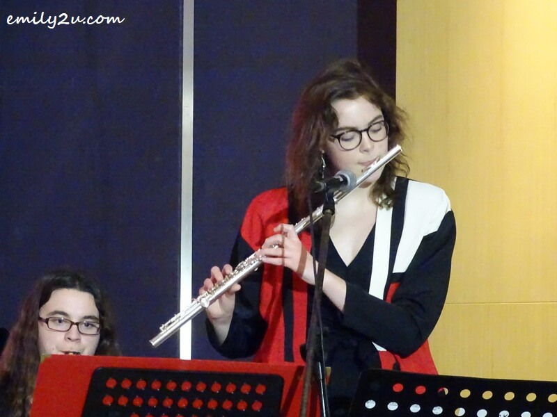 Anya Menk on the flute