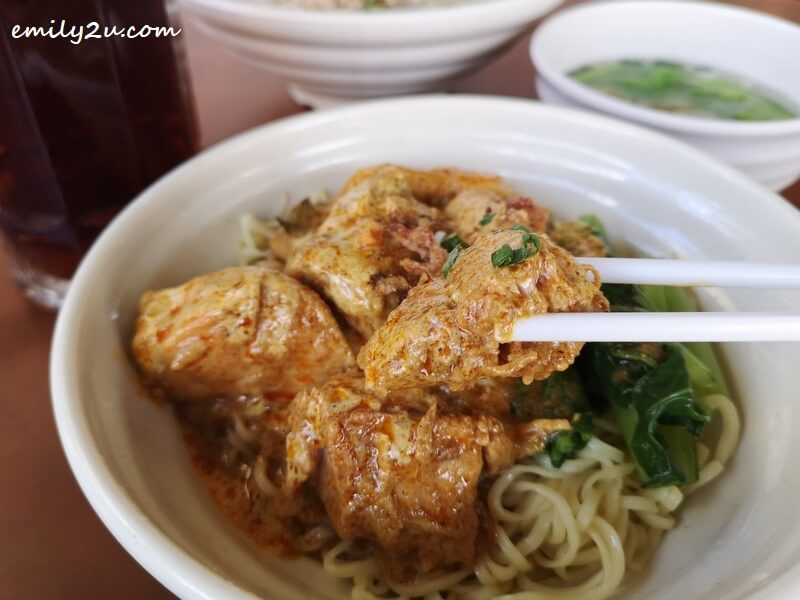 signature Mei Fong dry curry noodles