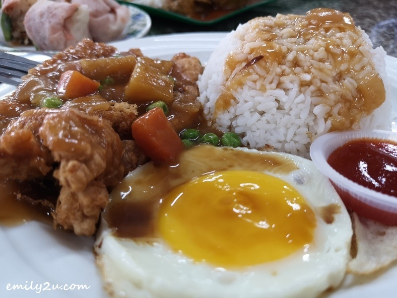 Hainanese chicken chop rice