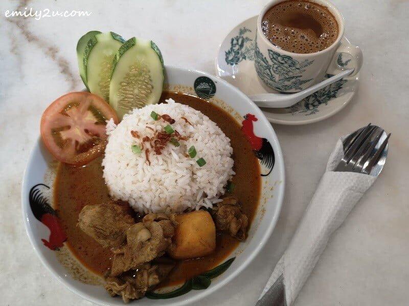 Nasi Putih Kari Ayam Nyonya